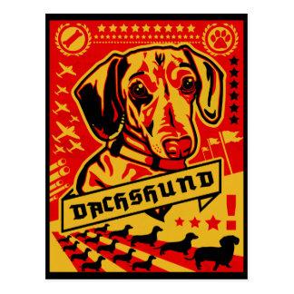 Dachshund Propaganda Postcard