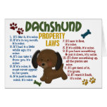 Dachshund Property Laws 4 Greeting Cards