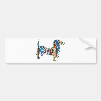 Dachshund - Psychedelic Zbra Doxie Bumper Sticker