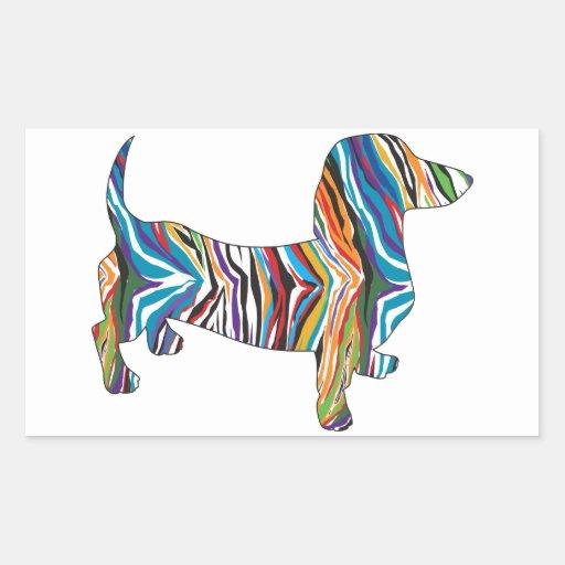 Dachshund - Psychedelic Zbra Doxie Sticker