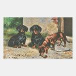 Dachshund Puppies Rectangular Sticker