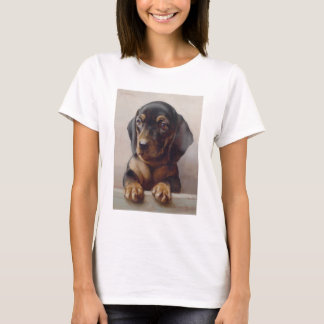 Dachshund Puppy Art T-Shirt