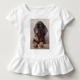 Dachshund Puppy Art Toddler T-shirt