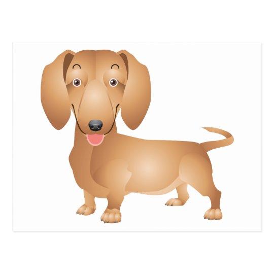 Dachshund Puppy Dog Blank Postcard