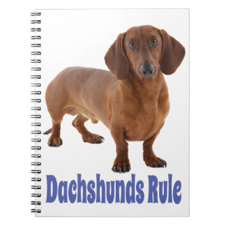 Dachshund Puppy Dog Blue Love Notebook