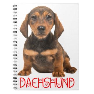 Dachshund Puppy Dog - Love Puppies Notebook