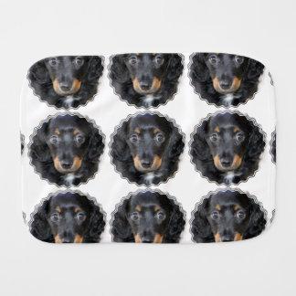 Dachshund Puppy Dog Baby Burp Cloths