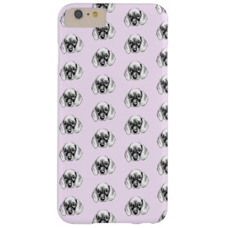 Dachshund puppy pattern baby pink barely there iPhone 6 plus case