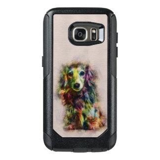 Dachshund Puppy Sketch Paint OtterBox Samsung Galaxy S7 Case