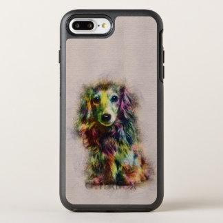 Dachshund Puppy Sketch Paint OtterBox Symmetry iPhone 8 Plus/7 Plus Case