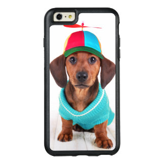 Dachshund Puppy Wearing Propeller Hat OtterBox iPhone 6/6s Plus Case
