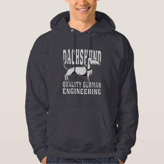 Dachshund Quality German Engineering Funny Hoodie