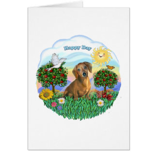 Dachshund (red or brown) card