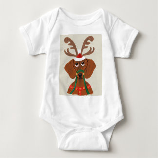 Dachshund Reindeer Tee Shirt