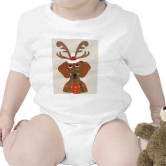 Dachshund Reindeer Baby Creeper