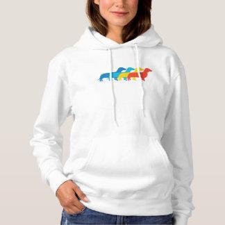 Dachshund Retro Pop Art Hoodie