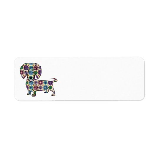 Dachshund Return Address Labels
