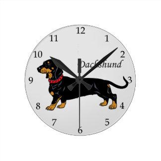 dachshund round clock