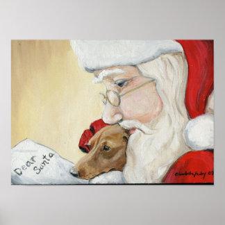 Dachshund s Request for Santa Canvas Print