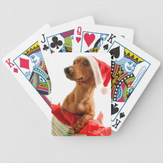 Dachshund santa - santa dog - dog gifts bicycle playing cards