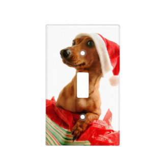Dachshund santa - santa dog - dog gifts light switch cover