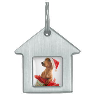 Dachshund santa - santa dog - dog gifts pet name tag