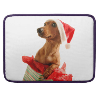 Dachshund santa - santa dog - dog gifts sleeve for MacBooks