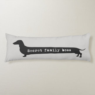 Dachshund silhouett secret family boss long pillow