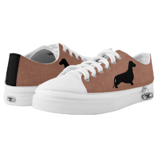 Dachshund silhouette black + your ideas Low-Top sneakers