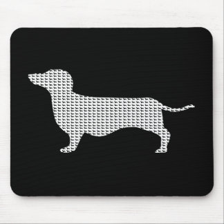 Dachshund Silhouette From Many Mouse Pad