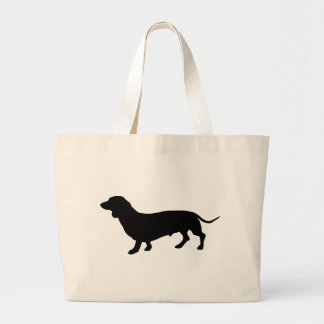 Dachshund Silhouette Large Tote Bag