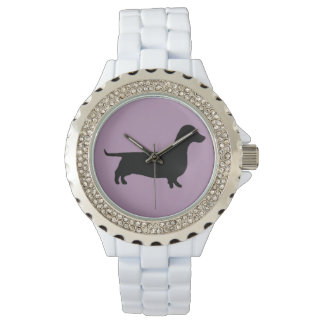Dachshund Silhouette on any color background Watch