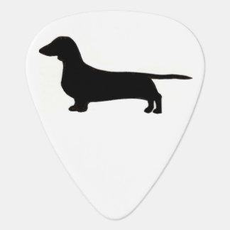 dachshund silo black.png guitar pick