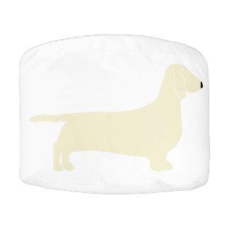 dachshund silo cream pouf