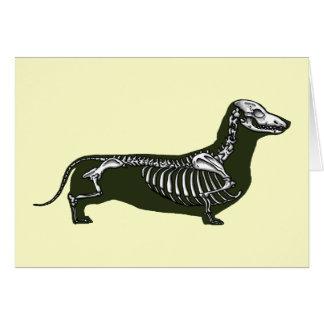 dachshund skeleton card