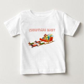 dachshund sled ride baby T-Shirt