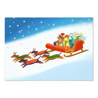 dachshund sled ride card