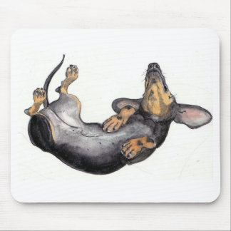 dachshund sleeping mouse pad