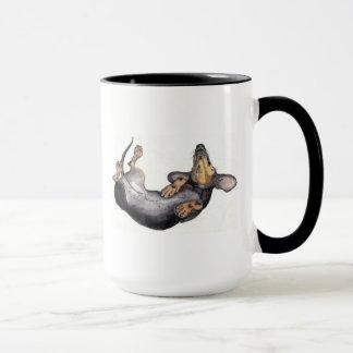 dachshund sleeping mug