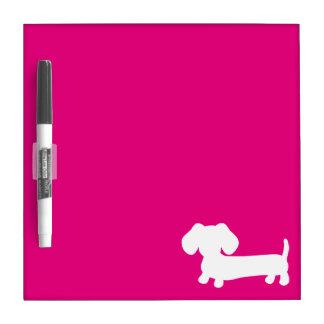 Dachshund Small Dry Erase Board Bright Pink Medium