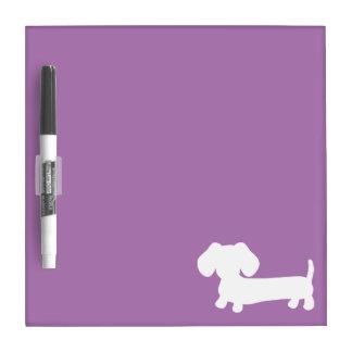 Dachshund Small Dry Erase Board Light Purple