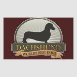 Dachshund [Smooth] Rectangle Stickers