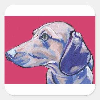 dachshund square sticker