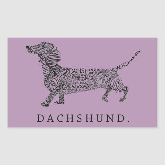 Dachshund Rectangle Stickers