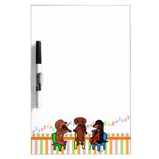 Dachshund String Trio Dry Erase Board