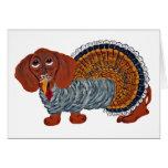Dachshund Thanksgiving Turkey Cards