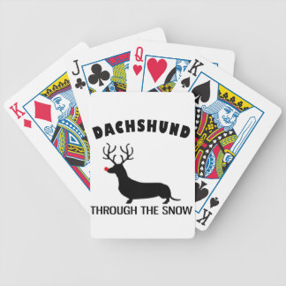 dachshund through the snow bicycle playing cards