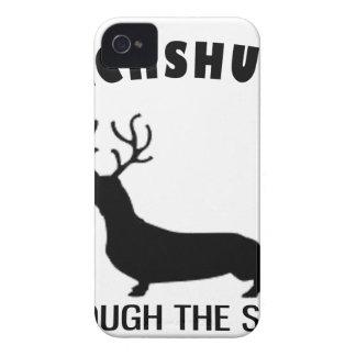 dachshund through the snow Case-Mate iPhone 4 case