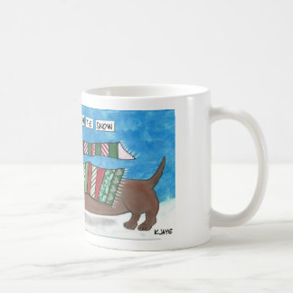 Dachshund Through The Snow - Funny Doxie Christmas Coffee Mug