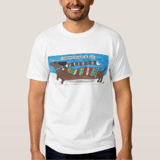 Dachshund Through The Snow - Funny Doxie Christmas Tee Shirt